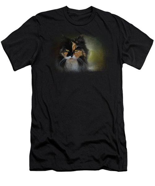 Calico Stare Men's T-Shirt (Slim Fit) by Jai Johnson