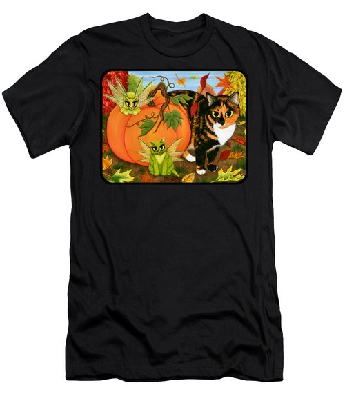 Calico's Mystical Pumpkin Men's T-Shirt (Athletic Fit)