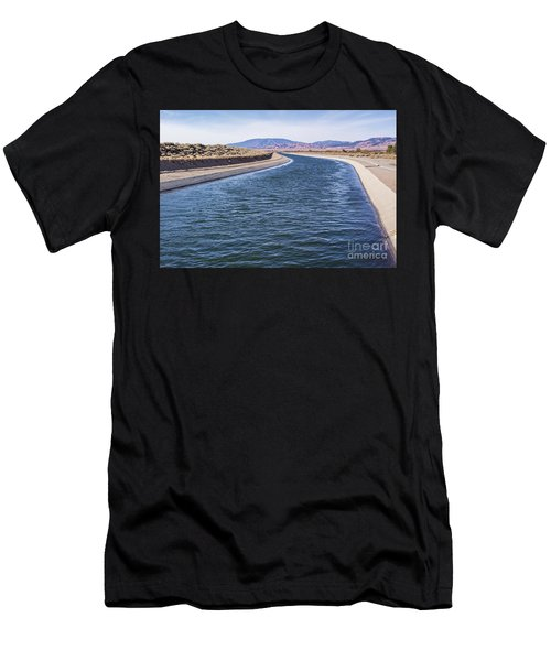 California Aqueduct S Curves Men's T-Shirt (Athletic Fit)