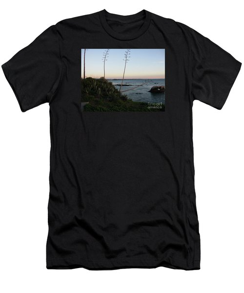 California At Twilight Men's T-Shirt (Slim Fit) by Mini Arora