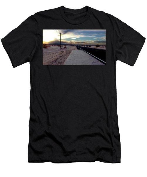 California Desert Highway Men's T-Shirt (Slim Fit) by Christopher Woods