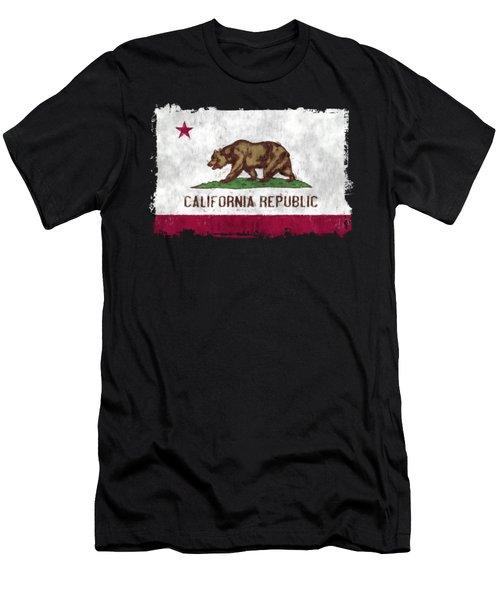 California Flag Men's T-Shirt (Athletic Fit)