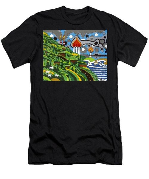 California Highway 1 Men's T-Shirt (Athletic Fit)
