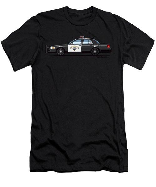 California Highway Patrol Ford Crown Victoria Police Interceptor Men's T-Shirt (Athletic Fit)