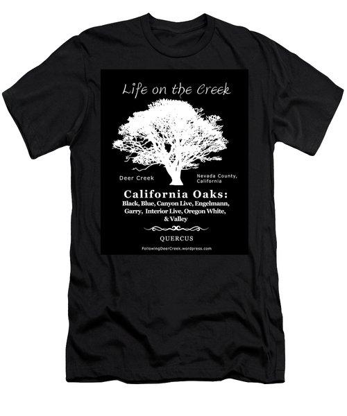 California Oak Trees - White Text Men's T-Shirt (Athletic Fit)
