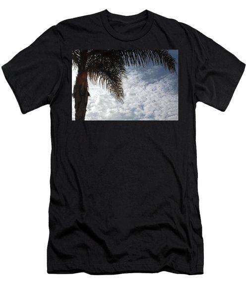 California Palm Tree Half View Men's T-Shirt (Slim Fit) by Matt Harang