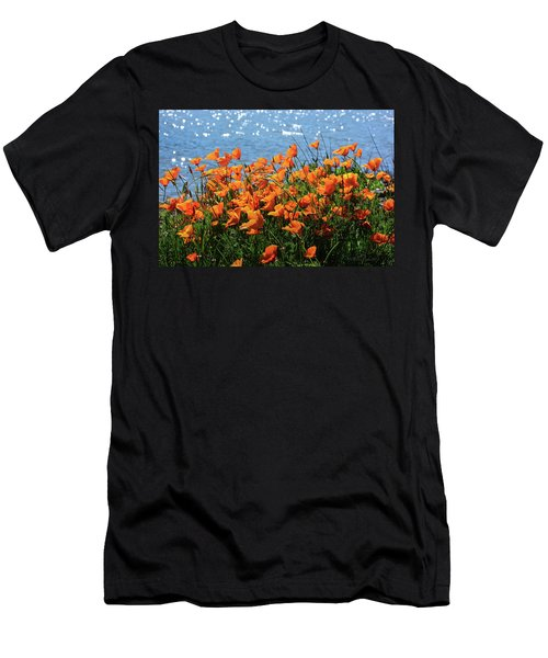 California Poppies By Richardson Bay Men's T-Shirt (Athletic Fit)