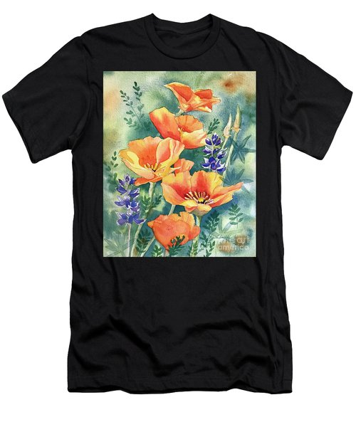 California Poppies In Bloom Men's T-Shirt (Athletic Fit)