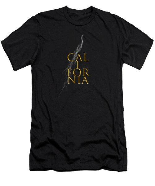 California Text Men's T-Shirt (Slim Fit) by Mim White