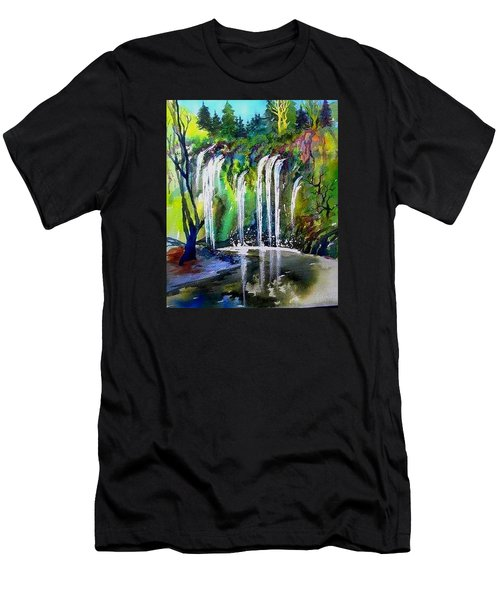 California Water Fall Men's T-Shirt (Athletic Fit)