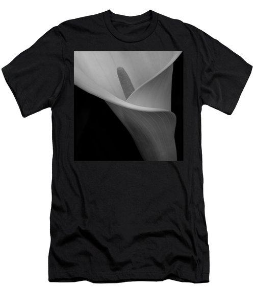Calla Blossom Tight Crop Men's T-Shirt (Athletic Fit)