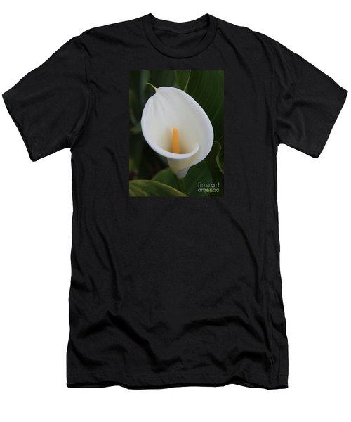 Perfect White Calla  Men's T-Shirt (Athletic Fit)