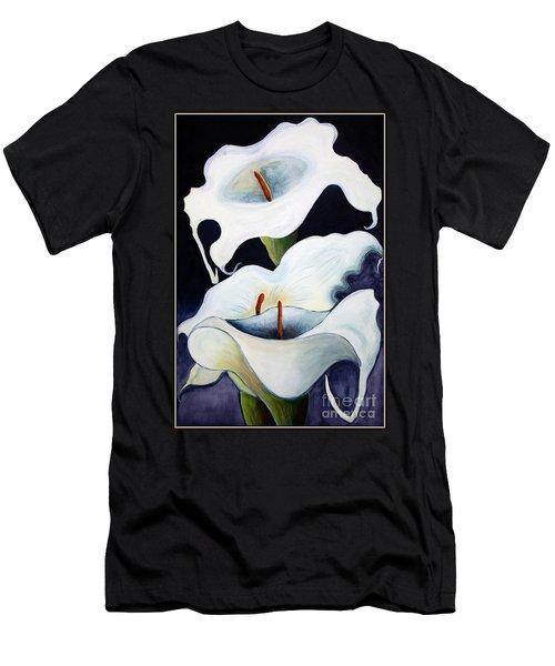 Calla Lilies.. Men's T-Shirt (Athletic Fit)