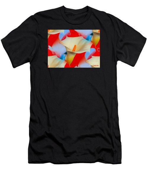 Splashy Calla Lilies Men's T-Shirt (Athletic Fit)