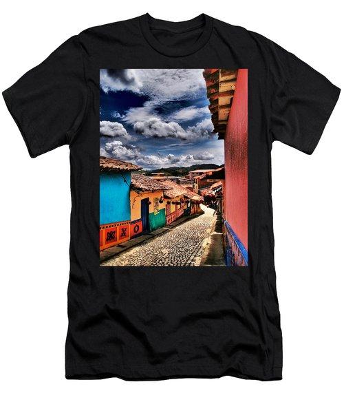 Calle De Colores Men's T-Shirt (Athletic Fit)