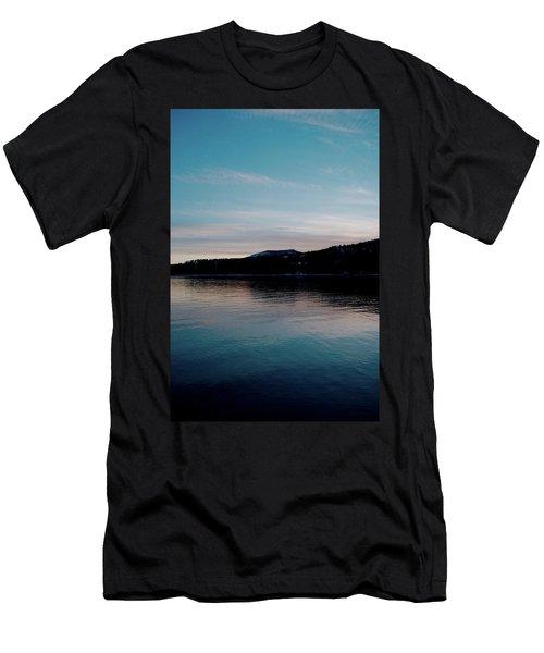 Calm Blue Lake Men's T-Shirt (Athletic Fit)