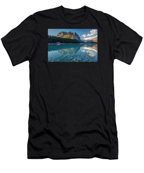 Calm Lake Louise Reflection Men's T-Shirt (Athletic Fit)