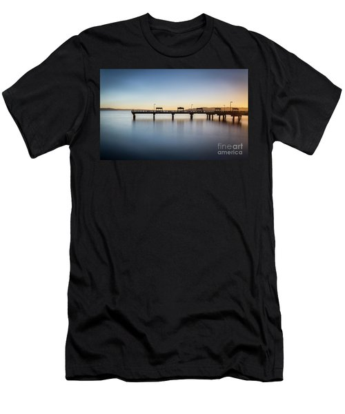 Calm Morning At The Pier Men's T-Shirt (Athletic Fit)