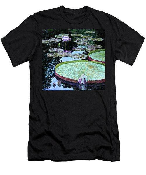 Calm Reflections Men's T-Shirt (Slim Fit) by John Lautermilch