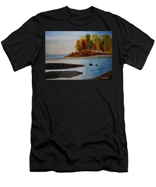Calm Tide Men's T-Shirt (Slim Fit) by Carol Crisafi