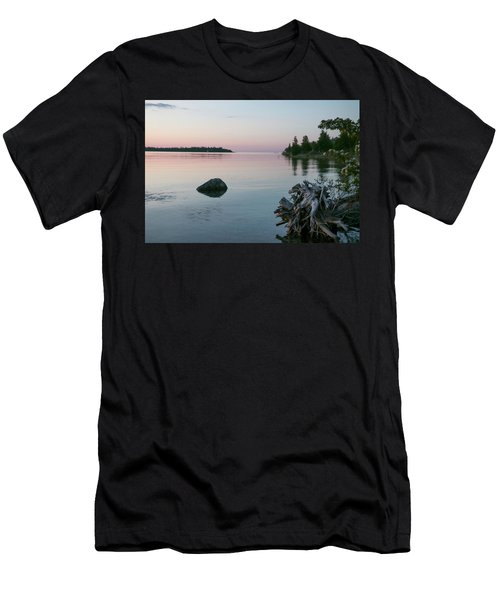 Calm Water At Lake Huron Crystal Point Men's T-Shirt (Athletic Fit)