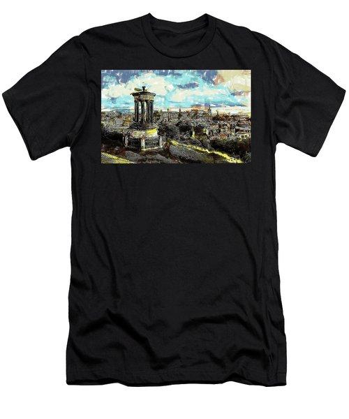 Calton Hill Edinburgh Men's T-Shirt (Athletic Fit)