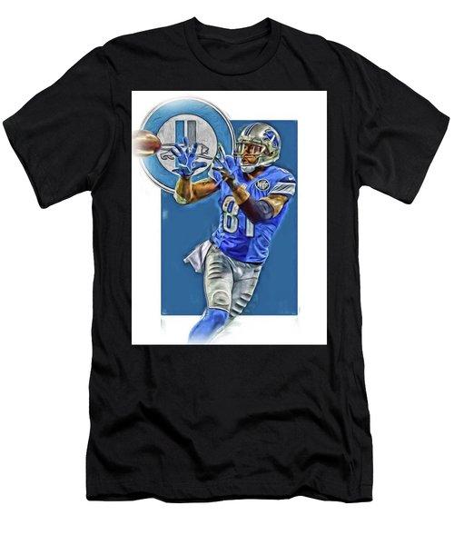Calvin Johnson Detroit Lions Oil Art 2 Men's T-Shirt (Athletic Fit)