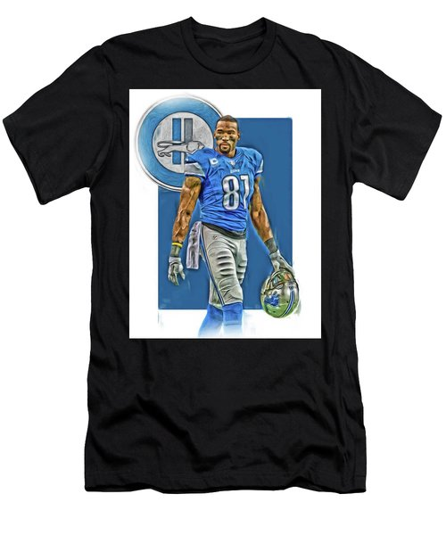 Calvin Johnson Detroit Lions Oil Art Men's T-Shirt (Athletic Fit)