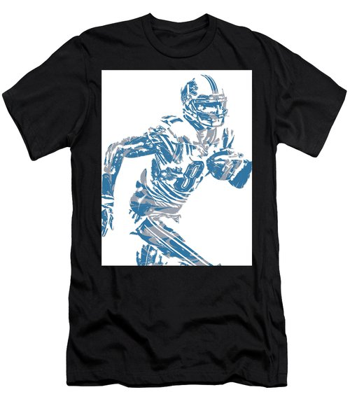 Calvin Johnson Detroit Lions Pixel Art 5 Men's T-Shirt (Athletic Fit)