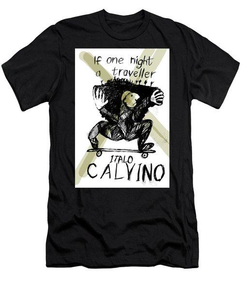 Calvino Traveller Poster  Men's T-Shirt (Athletic Fit)