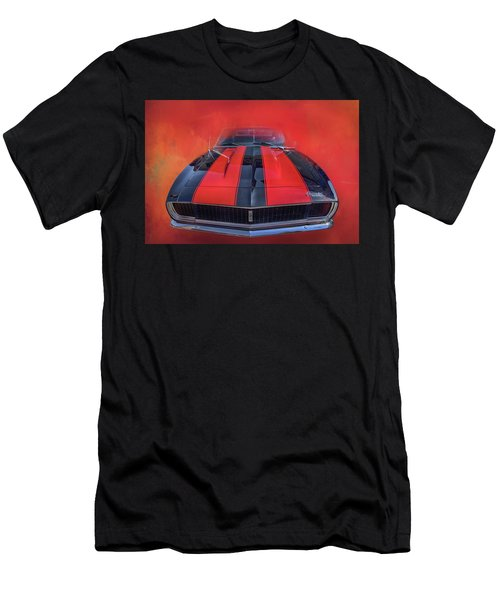 Men's T-Shirt (Slim Fit) featuring the photograph Camaro - Forged By Fire by Theresa Tahara