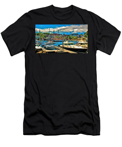 Camden Harbor Men's T-Shirt (Athletic Fit)