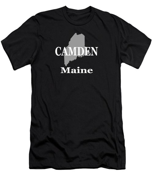 Men's T-Shirt (Slim Fit) featuring the photograph Camden Maine State City And Town Pride  by Keith Webber Jr
