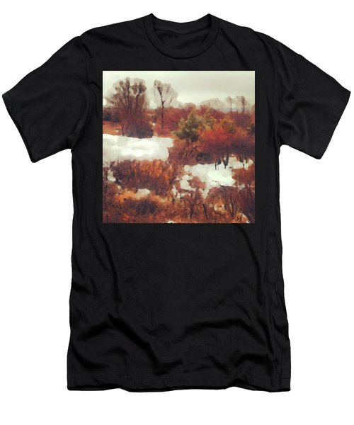 Men's T-Shirt (Athletic Fit) featuring the digital art Came An Early Snow by Shelli Fitzpatrick
