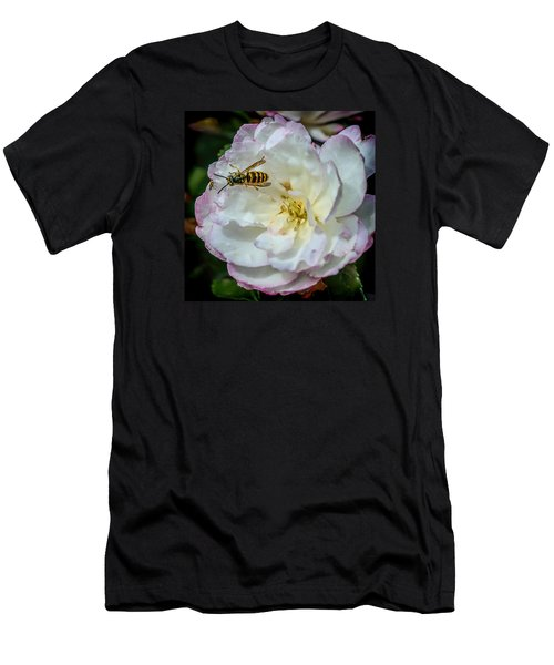 Men's T-Shirt (Slim Fit) featuring the photograph Camelia With Company by Susi Stroud