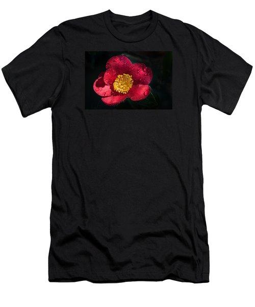 Camellia In Rain Men's T-Shirt (Athletic Fit)