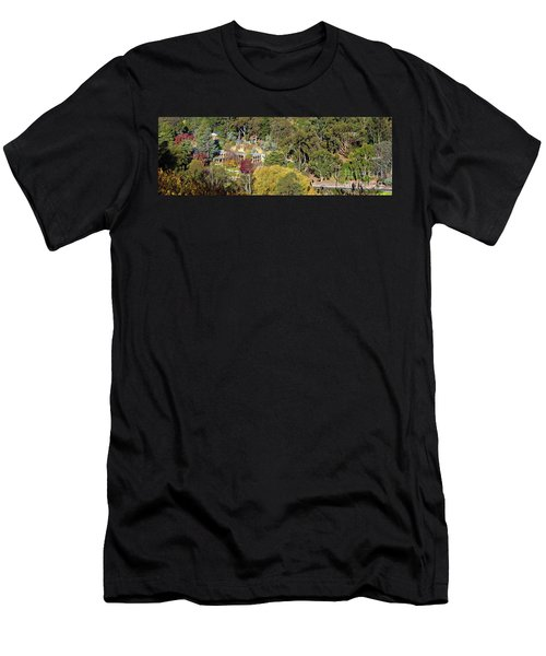Men's T-Shirt (Slim Fit) featuring the photograph Camelot Castle, Basket Range by Bill Robinson