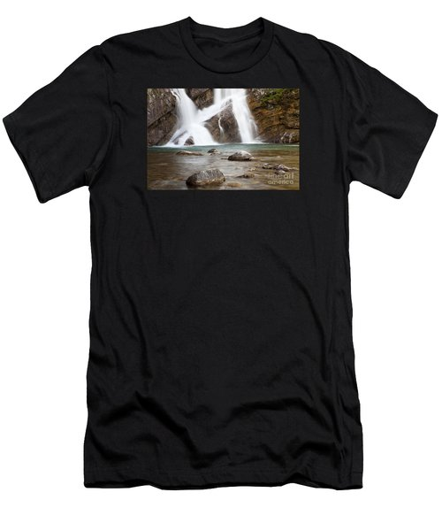 Cameron Falls In Waterton Lakes National Park Men's T-Shirt (Athletic Fit)