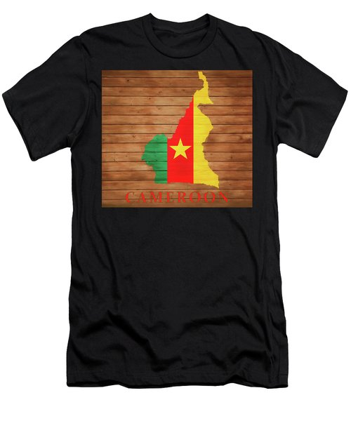 Cameroon Rustic Map On Woo Men's T-Shirt (Athletic Fit)