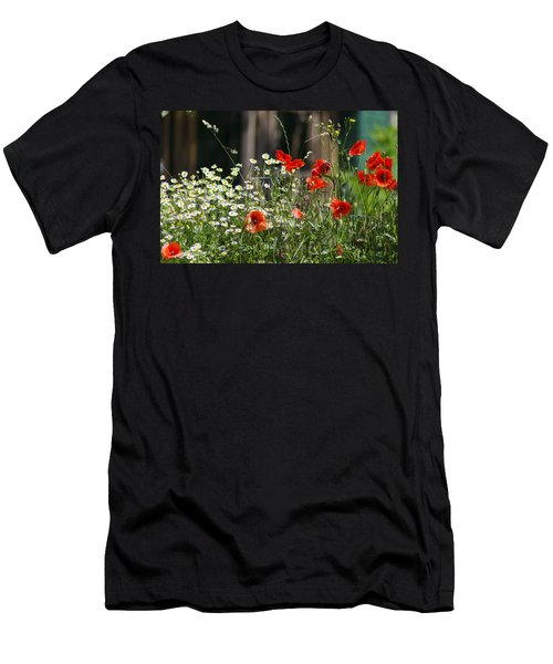 Camille And Poppies Men's T-Shirt (Slim Fit) by Rainer Kersten