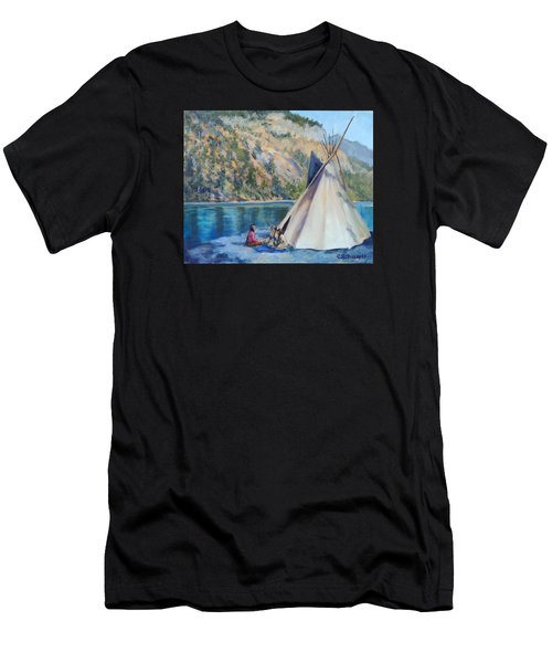 Camp By The Lake Men's T-Shirt (Athletic Fit)