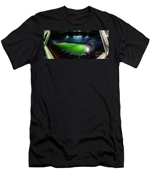Camp Nou At Night Men's T-Shirt (Athletic Fit)