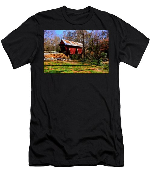 Campbell's Covered Bridge Est. 1909 Men's T-Shirt (Athletic Fit)