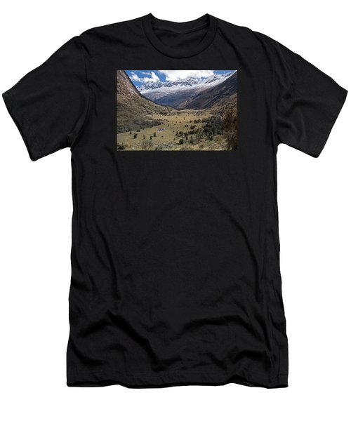 Camping In Huaripampa Valley Men's T-Shirt (Athletic Fit)