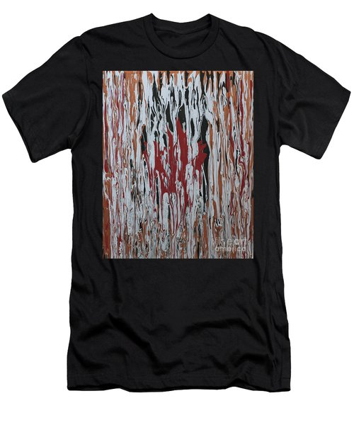Men's T-Shirt (Slim Fit) featuring the painting Canada Cries by Cathy Beharriell