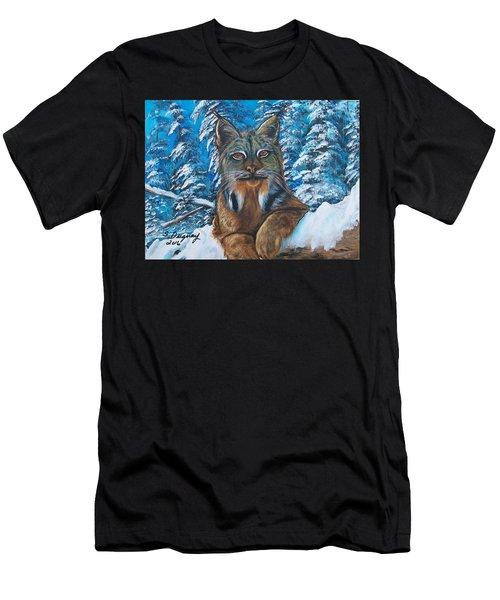 Canadian Lynx Men's T-Shirt (Athletic Fit)
