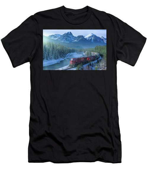 Canadian Pacific Railway Through The Rocky Mountains Men's T-Shirt (Athletic Fit)