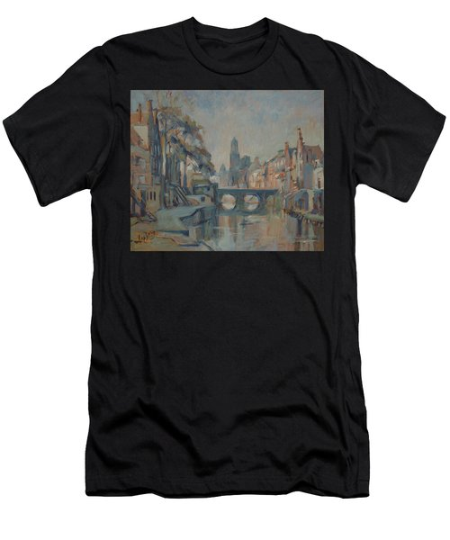 Canal In Utrecht Men's T-Shirt (Athletic Fit)