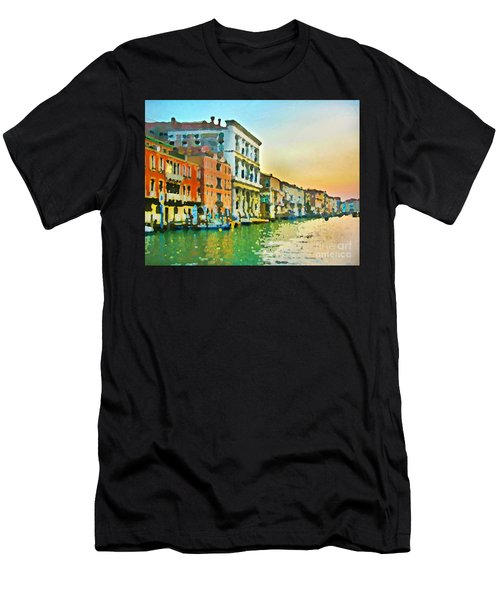 Canal Sunset - Venice Men's T-Shirt (Athletic Fit)