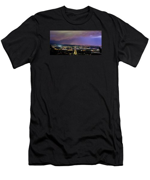 Men's T-Shirt (Athletic Fit) featuring the photograph Canberra Stormy Night by Angela DeFrias